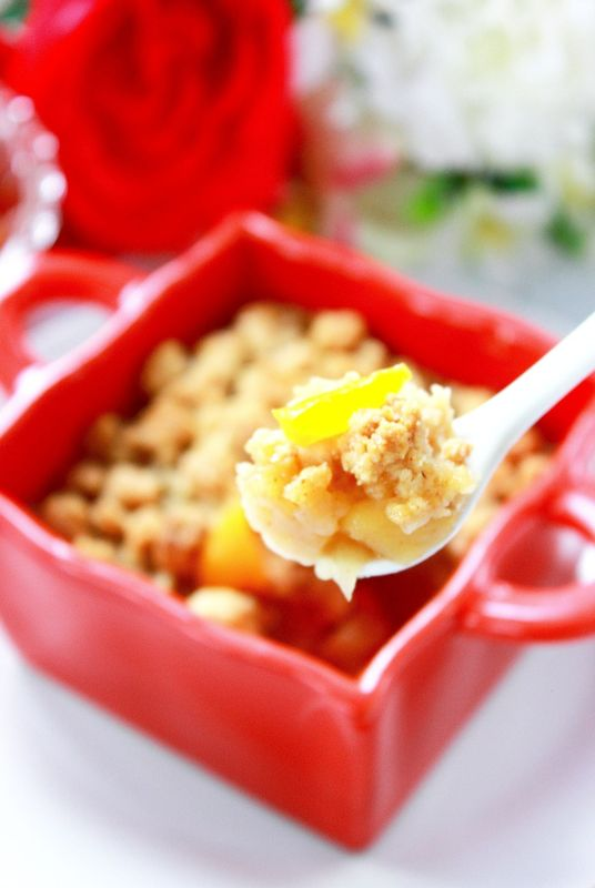 CRUMBLE POMMES & PECHES