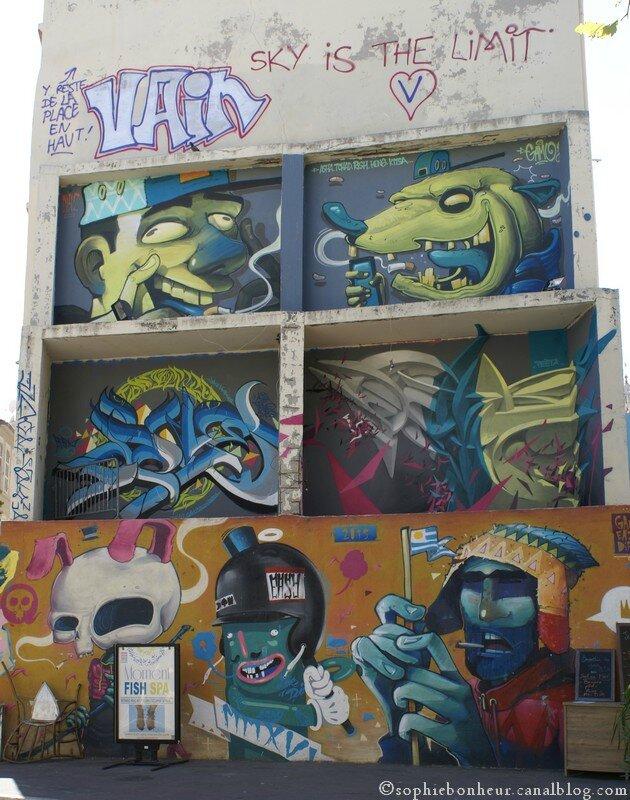 Panier mur peint
