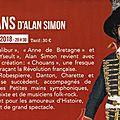« chouans », nouvelle création d'alan simon pour 2018