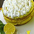 Tarte au citron meringuee facon layer cake {1an de la bataille food}