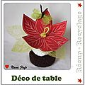 Poinsettia deco table carton