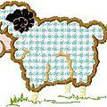 Appliqué mouton