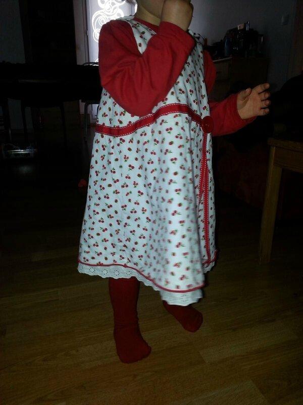 couture robe cerise