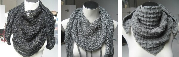 modele tricot echarpe fantaisie