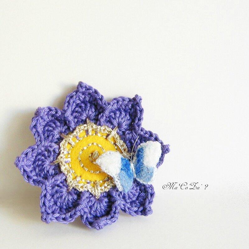 Broche fleur au crochet 1