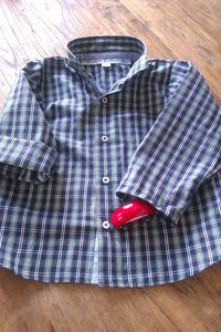 chemise ecossaise voiture