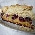 Gâteau crousti-fondant aux cerises