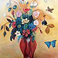 Bouquet de fleurs d'après odilon redon