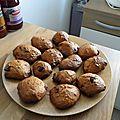 Cookies banane chocolat à la purée d'amandes