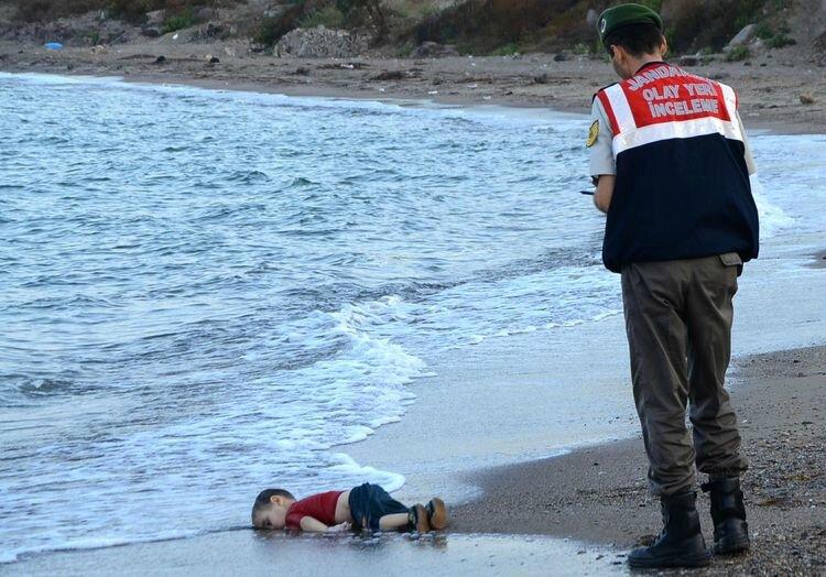 Découverte du corps de Aylan Kurdi