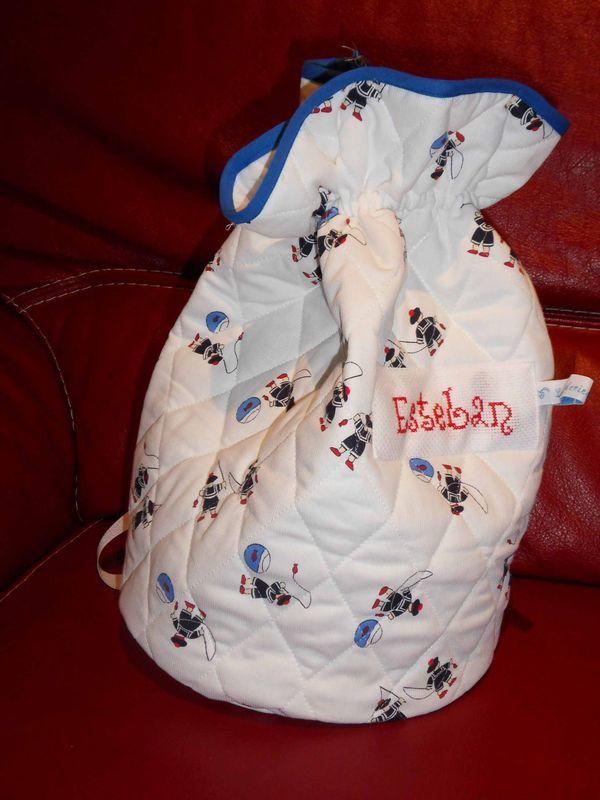 sac rond baluchon motif marins