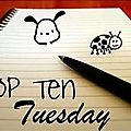 Top ten tuesday 17 janvier 2012