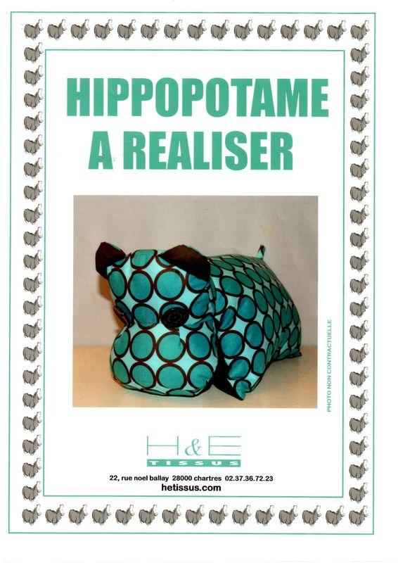 Tuto de l 39 hippo histoire de fil les - Comment faire coussin capitonne ...