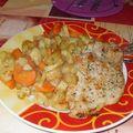 Pommes de terre / carottes / dinde