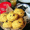 Scones au curcuma et raisins secs