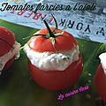 Tomates farcies à l'aïoli