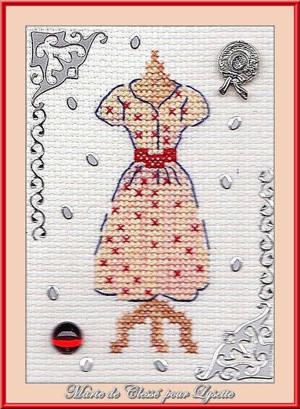 Échange ATC (Septembre) Chez Corinne (Robe) Marie de Clessé pour Lysette 1