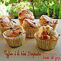 Muffins à la bière desperados, carottes et baies de goji