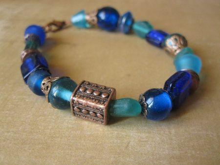 Bracelet bleu cuivré