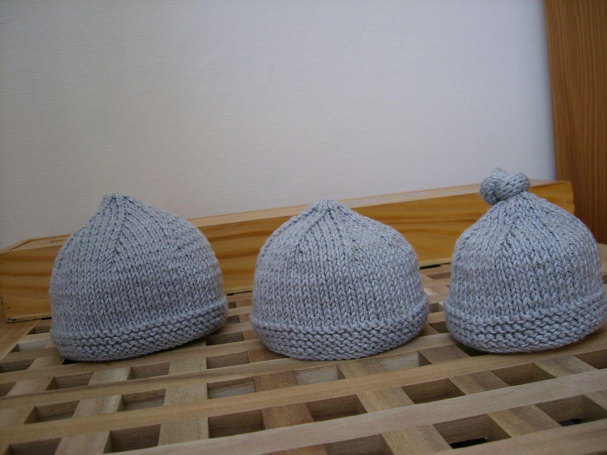 tuto tricot : Modèle de bonnet pour prématuré de 36 SA : j'aime papa ou