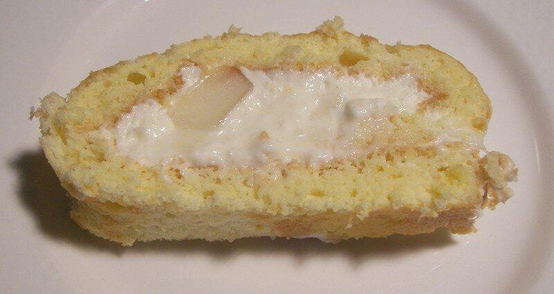 Roulé au fromage blanc vanillé et poires