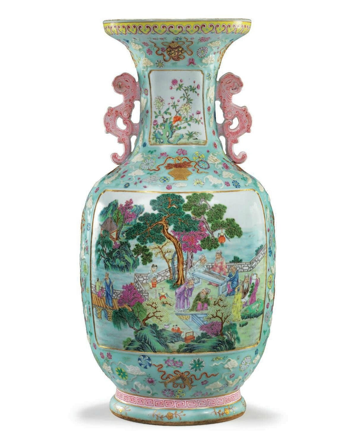 An exceptional rare and large famille rose vase qianlong six an exceptional rare and large famille rose vase qianlong six character seal mark in reviewsmspy