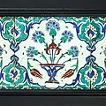 Iznik tile panel, turkey, second half of the 16th century
