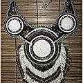 collier perles & raku