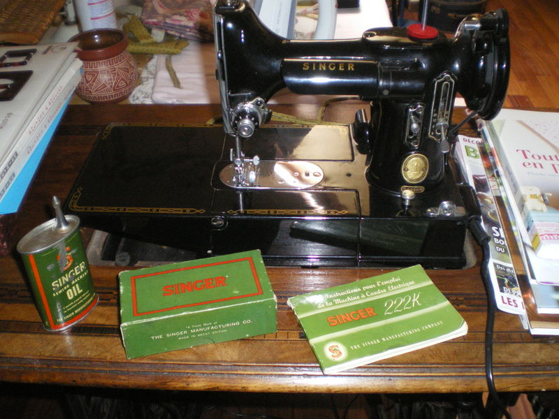 Singer machine coudre 1950 pictures to pin on pinterest - Vieille machine a coudre singer ...