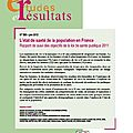 Ltat de sant de la population en France. Rapport de suivi des objectifs de la loi de sant publique 2011 - DREES