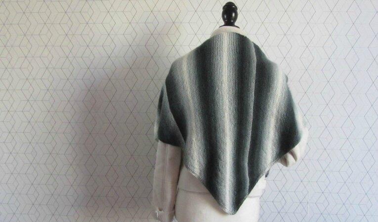trendy châle dégradé gris