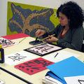 cours de calligraphie japonaise avec l'association JANA