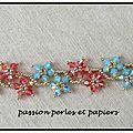 bracelet pâquerettes padparascha pacific opal