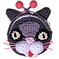 ★ chat porte monnaie au crochet ★
