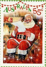 Timbre Australie Père-Noël