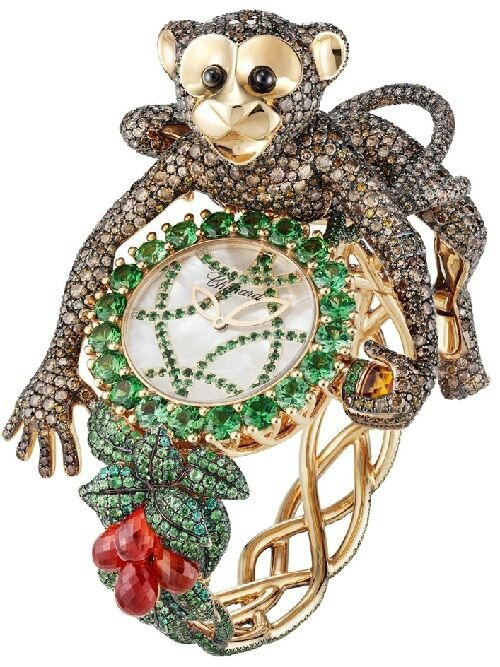 Chopard animal world collection monkeys necklace for Chopard animal world jewelry collection