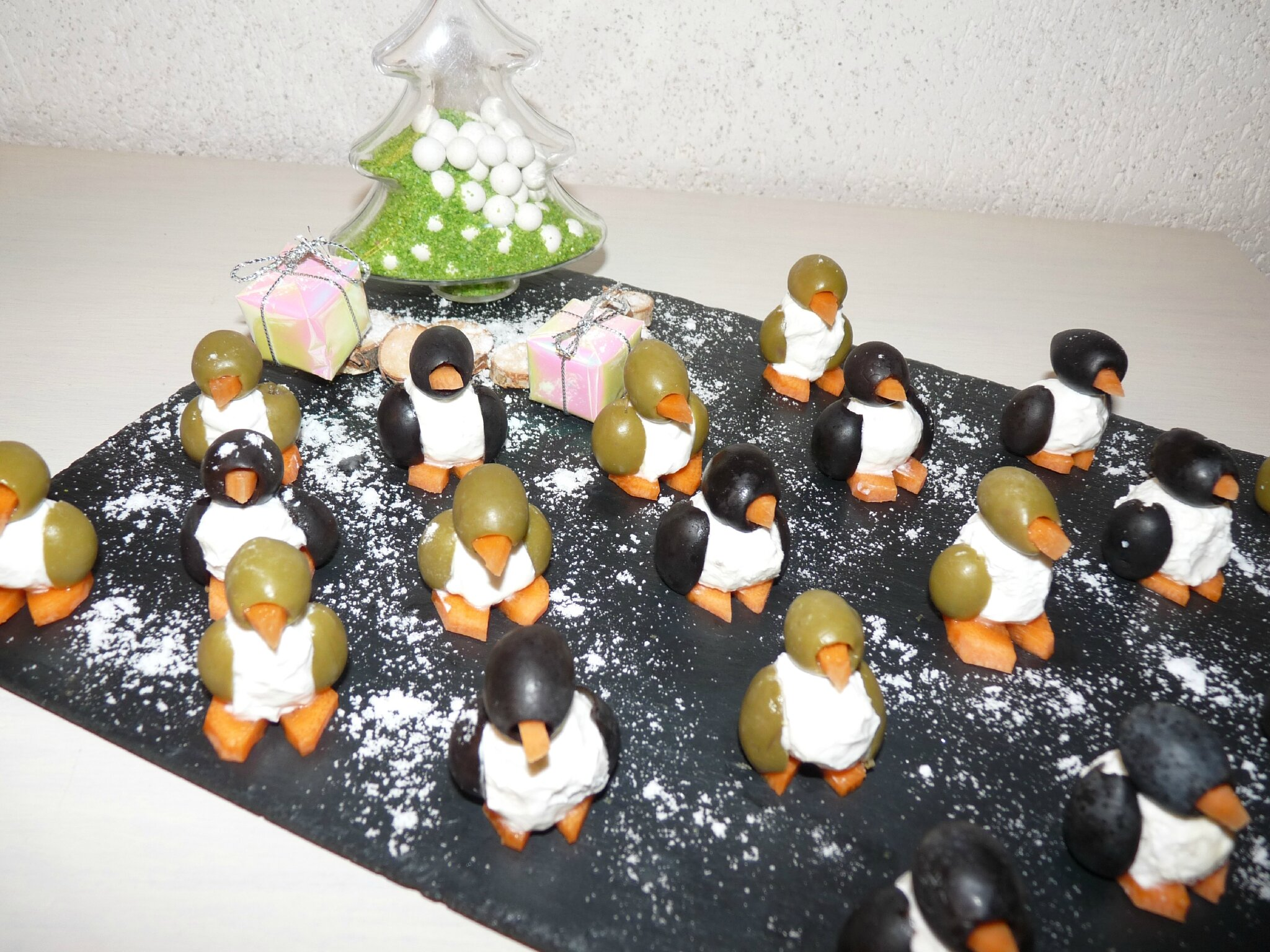 Pingouin comme amuses bouches