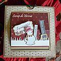 Carte Pop'up Joyeux Noël