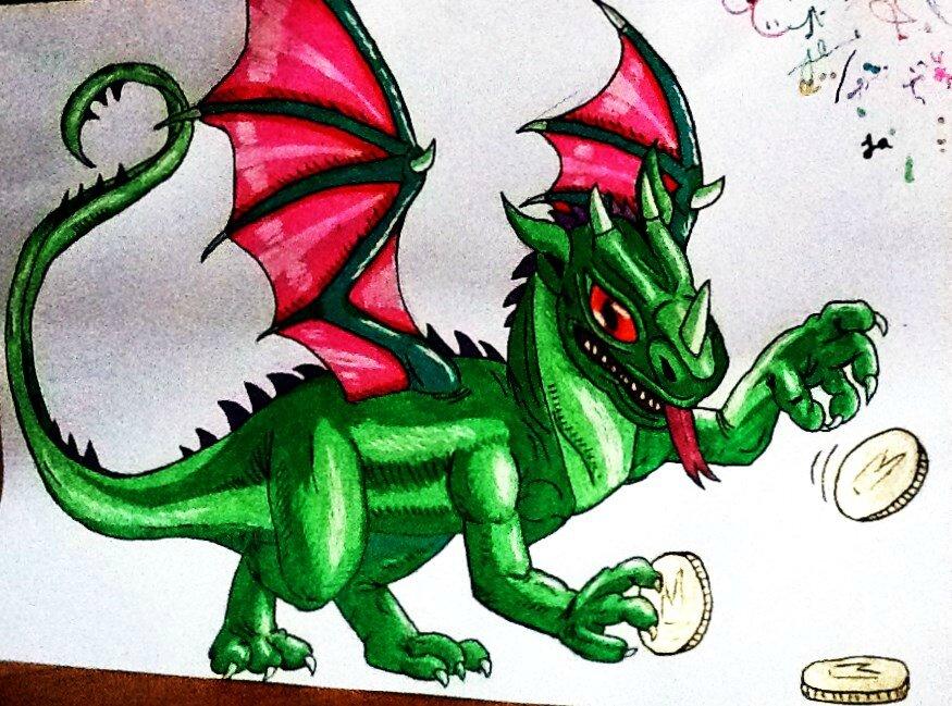 Dessins la main grandkhan et ses b d s - Dessin dragon couleur ...