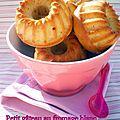 Petit gâteau au fromage blanc et à la compote pommes, vanille et cannelle