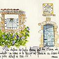 - cadrans solaires - aquarelle par une amie de blog chinou -