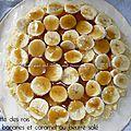 Ma galette des rois 2014 : coco banane et caramel au beurre salé