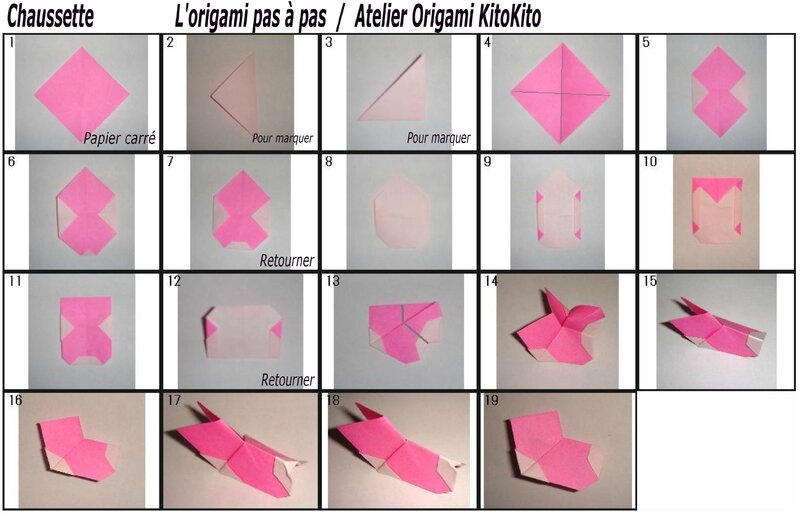 chaussettes pour calendrier de l 39 avent no l l 39 origami pas pas atelier origami kitokito. Black Bedroom Furniture Sets. Home Design Ideas