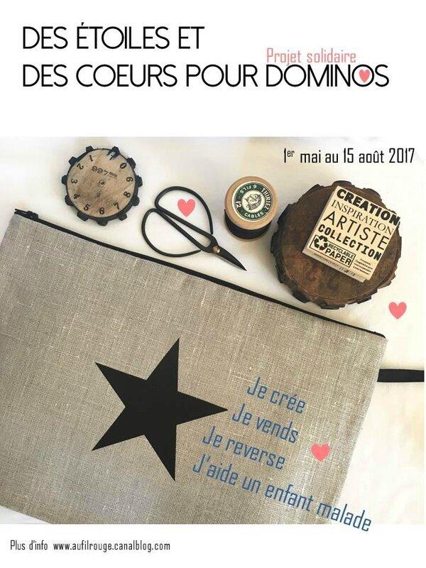 Flyer Des étoiles et des coeurs pour Dominos