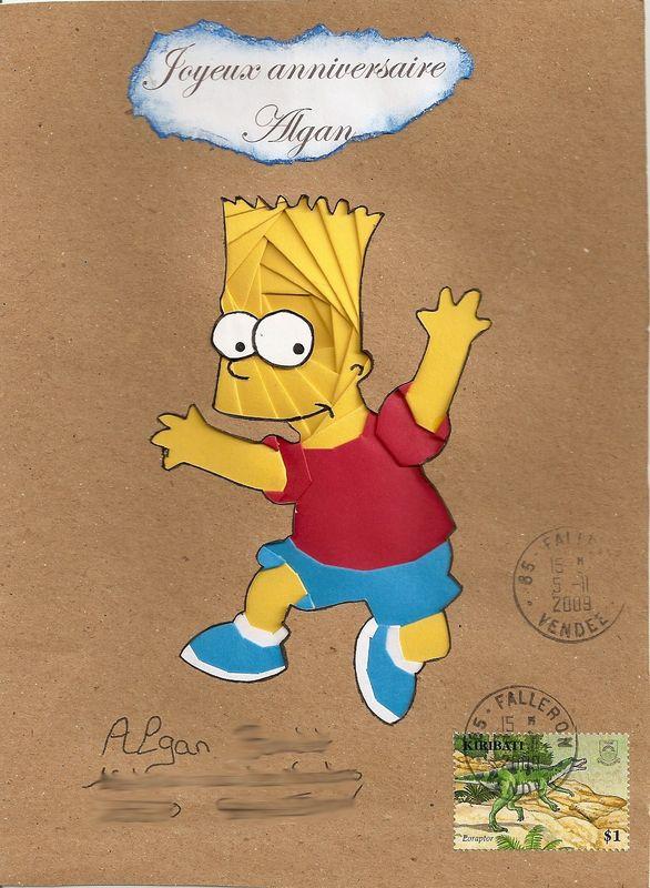 Carte anniversaire simpson cc64 montrealeast - Simpson anniversaire ...
