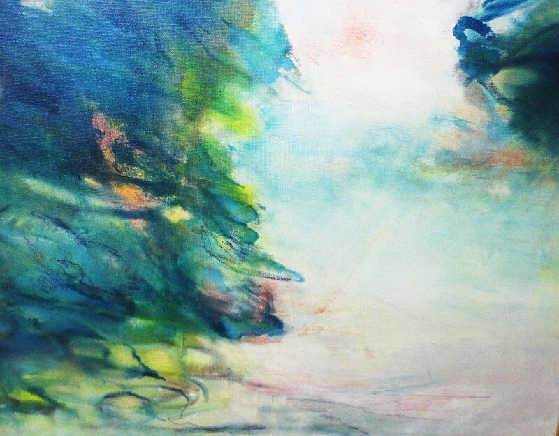 aquarelle sur toile 40x30
