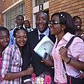 Avec mes amies Cynthia K. et Esther KOLONGO