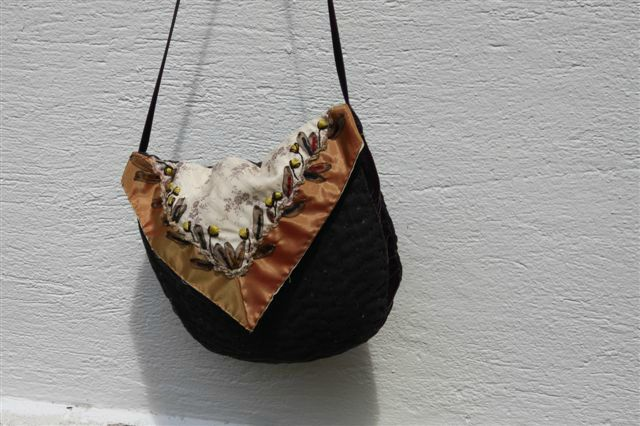 sac bordure velours