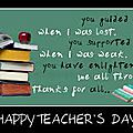 Happy teachers in your day