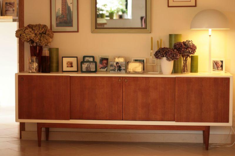 enfilade scandinave en teck massif caterpillar elab vintage. Black Bedroom Furniture Sets. Home Design Ideas